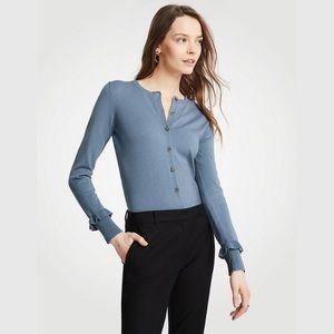 Ann Taylor Ruffle Cuff Cardigan Sweater
